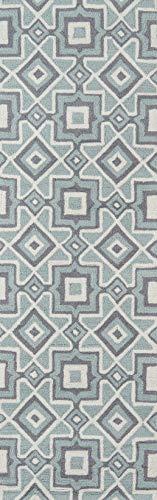 momeni Teppiche geo00geo16chr2030Geo Collection, Hand Süchtig modernes Bereich Teppich, 2'x 3', anthrazit, Polyurethan, grau, 2'6