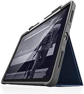 STM Bags Dux Plus Case Folio Schutzhülle für Apple iPad Air 10,9' (2020)   blau/transparent [Apple Pencil Halterung I Militär Standard I Wasserabweisend I Standfunktion I Wake/Sleep]