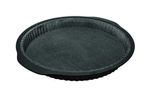 Zenker 685536 - Molde de silicona para tartas de fibra de vidrio, molde para tartas y quiche, molde para repostería, silicona de fibra de vidrio, color gris, 25 cm