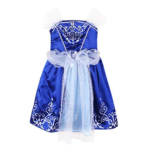 Allence Babykleidung Baby Mädchen Riemen Sommerkleid Ärmelloses Kleid mit Spitzenrüschen Prinzessin Kleidung Geburtstag Party Hochzeitskleid Mädchen Kleid