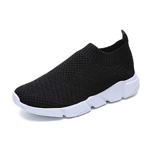 Más el Tamaño Transpirable de Malla de Aire Zapatillas de deporte de las Mujeres de Primavera Verano Deslizamiento en Plataforma de Punto Pisos Suave Zapatos, color, talla 37 EU