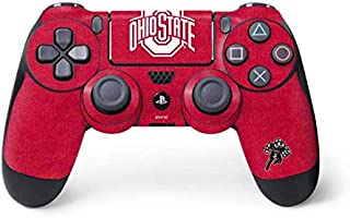 Skinit Decal Gaming Skin for PS4 Controller - Officially Licensed Ohio State University OSU Ohio State Buckeyes Red Logo D...