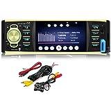GOFORJUMP 4019B 4.1 Pulgadas 1 DIN Car Radio Auto Audio Estéreo autoradio USB AUX FM Estación Bluetooth con cámara de visión Trasera Control Remoto