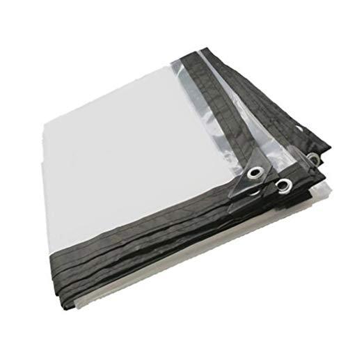 QI-CHE-YI Transparente wasserdichte Plane Sonnenschutz Kunststoff-Tuch aus LKW Plane 5 Mils, 120G / M2,4x6m