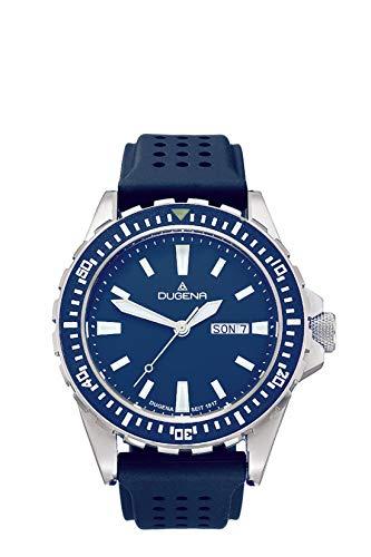 Dugena Herren Analog Quarz Uhr mit Silikon Armband 4460980
