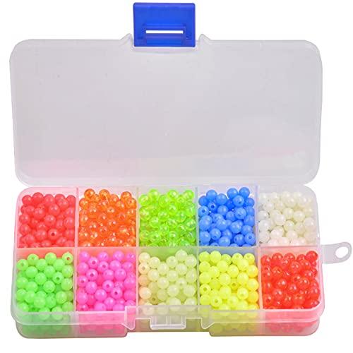 JSHANMEI Fishing Beads Assorted Beads Set, 1000pcs Round Float Glow...