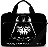 Sidorenko Laptoptasche 17/17,3 Zoll - Moderne Notebooktasche aus Canvas - Hochwertige Laptop Tasche - Dreck- und Wasserabweisende Laptop Bag mit Zubehörfach