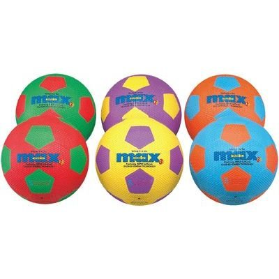Generic Ballons De Football Taille 4 20cm Coloris Assortis - Sachet De 6