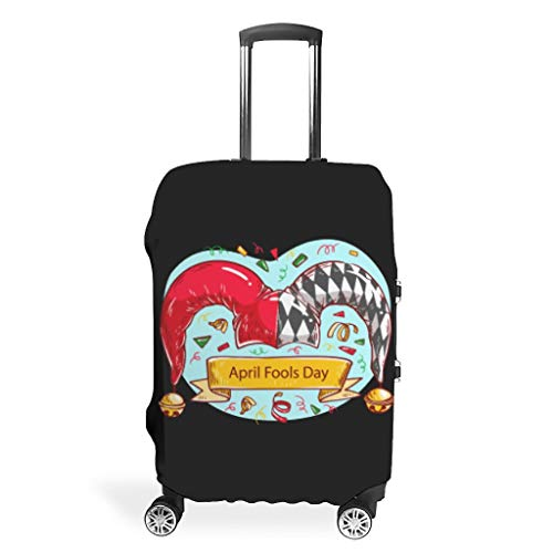 Travel First April Luggage Cover Protector - Easy to Identify Multi Size Suit Many Luggage, White (White) - Mentmate Store-XLXT