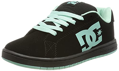 DC Shoes Gaveler-Leather Shoes For Women, Zapatillas Mujer, Negro, 40.5 EU