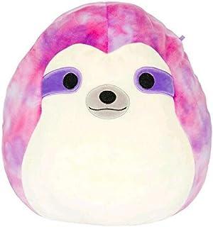 Squishmallow 8 inch Simon The Sloth Tie Dye Plush Pillow Toy Pink Purple