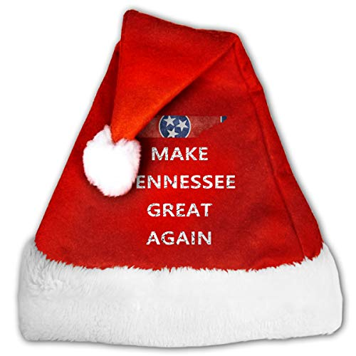 Make Tennessee Great Again Santa Hat Unisex Adults and Kids Winter Christmas Hat Christmas New Year Festive Holiday Party Supplies
