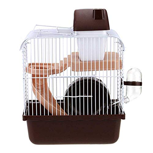 Small Animal Kooi Habitat met accessoires, rat Konijnenhok Ferret Chinchilla Platform Feeding Habitat Base Ladder,Brown