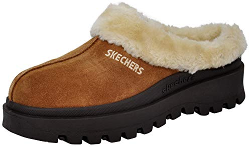 Skechers Women's Fortress Clog Slipper, Tan, 9 M US
