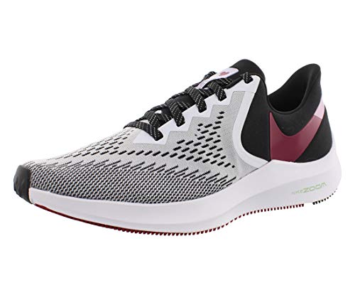 Nike Wmns Zoom Winflo 6, Zapatillas para Correr Mujer, White Noble Red Black Iced Lilac, 36 EU