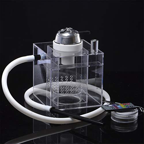 CFJJOAT Shisha Smoke Starter Square Bar Shisha mit Lichtdesign