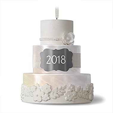 Hallmark Keepsake 2018 Wedding Gift New Life Together Cake Year Dated Porcelain Christmas Ornament