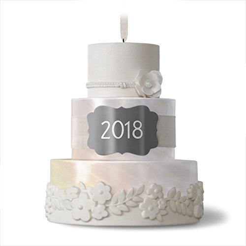 Hallmark Keepsake Christmas Ornament 2018 Year Dated Wedding Gift New Life Together Cake Porcelain