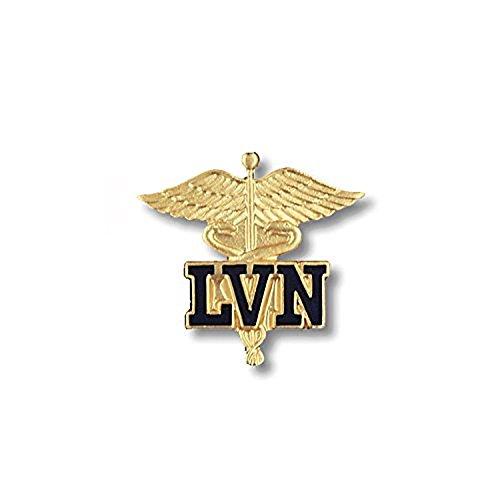 EMI LVN (Licensed Vocational Nurse) Emblem Pin on Caduceus
