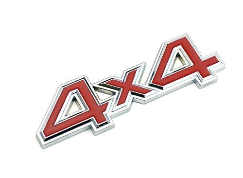 Garage-SixtySix 4x4 Emblem Chrom Rot