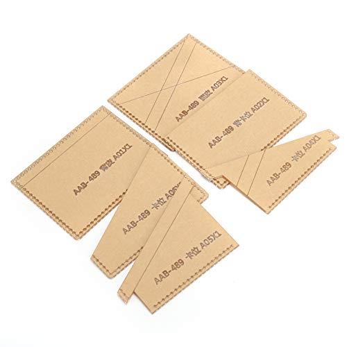 Plantilla de acrílico transparente para monedero Paquete de tarjetas de fácil uso Regalo para amantes del bricolaje