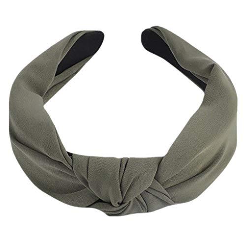 Dorical Haarband Yoga Headband Hairband Damen Stoff Haarreif mit Schleife-Vintage-Wunderschön Stirnband,Haarschmuck Haarreif mit Schleife-Vintage-Wunderschön Stirnband (One Size, Z003-Armeegrün)
