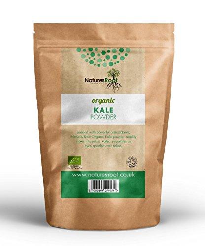 Natures Root Biologisches Grünkohl Pulver 500g - Ganz Natürlich | Glutenfrei | Rein | Premium Grünkohl