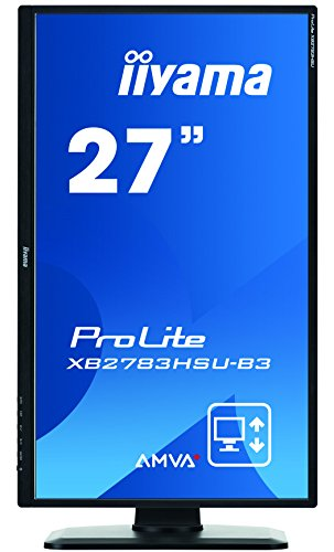 iiyama ProLite XB2783HSU-B3 68,6cm (27″) AMVA+ LED-Monitor Full-HD (VGA, HDMI, DisplayPort, USB2.0) Höhenverstellung, Pivot, schwarz - 3