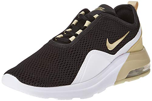 Nike Damen Air Max Motion 2 Leichtathletikschuhe, Mehrfarbig (BlackMTLC Gold StarWhite 000), 39 EU