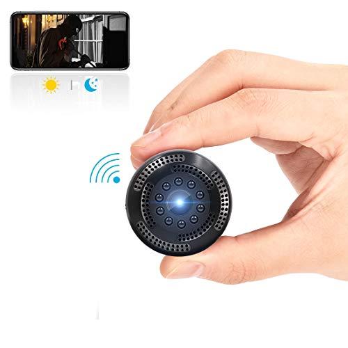 Cámara Oculta inalámbrica 1080P HD Mini cámara espía WiFi con grabación de vídeo/Detector de Movimiento/visión Nocturna/vigilancia remota para iPhone/Android/iPad