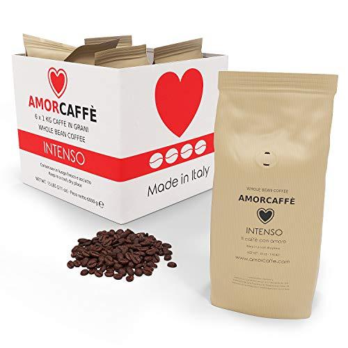 Amorcaffe Intenso Taste Coffee Beans (6 Packs of 1kg) - 6 kg