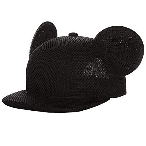 Yixda - Gorra de béisbol para niño y niña, de malla negro 3-5 años