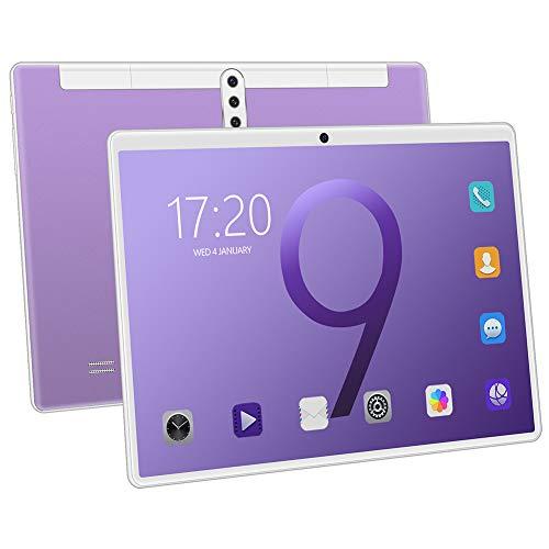 Tableta Tableta Android 8.1 de 10.1 Pulgadas con 6GB de ROM de 128GB incorporados y batería de 8000mAh Cámara HD de 8.0 MP + 16.0 MP, Tarjeta SIM Dual y Tarjeta TF, Compatible con WI-FI, Bluetooth