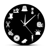 Reloj de cocina Herramientas de costura Decoración de la sala de costura Reloj...