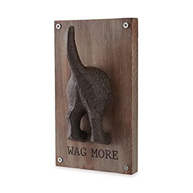Mud Pie 4345094M Wag More Dog Leash Hanger Wall Hook