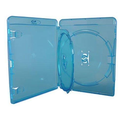 Vision Media - 5 x Estuches Amaray Triples para Blu Ray - Con una Bandeja Interna y Espina de 14mm
