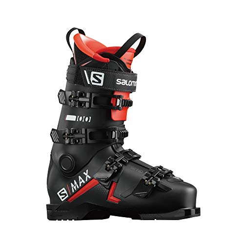 Salomon S/Max 100 Ski Boots Mens Sz 9/9.5 (27/27.5) Black/Red/White