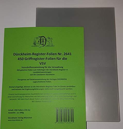 450 DürckheimRegister -FOLIEN für die VSV-Bayern: 450 transparente FOLIEN für die VSV
