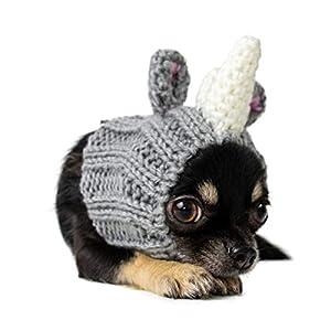Zoo Snoods Rhino Dog Costume – Neck and Ear Warmer Hood for Pets