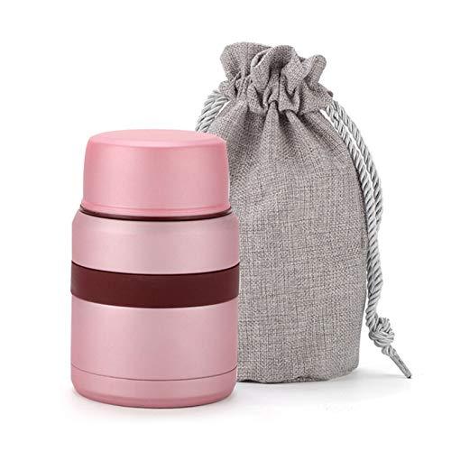 JDJD Frasco de Comida 4 Colores For La Comida Caliente De 350 Ml con Los Envases Termo Termos De Acero Inoxidable Mini Lunch Box Taza Termos Alimentos Frascos (Color : Pink)