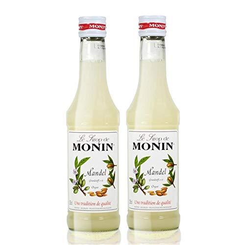 2x Monin Mandel Sirup, 250 ml Flasche