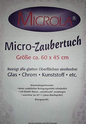 Micro Zaubertuch Microla Micro Tuch, 3 Tücher im Set, ca 60x45 cm Reinigungstuch Reinigungstücher Microfaser Tücher Putztuch Microfaser Tücher Auto Fa.ars