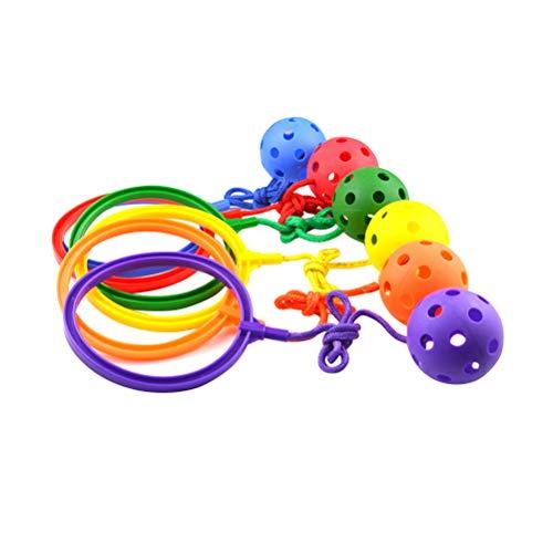 VOSAREA 6pcs Skipper-Skip Ball Toy - Beweglichkeits-Spielzeug - Überspringen und springen Sie Spielzeug für Cardio-Gesundheit und Koordination
