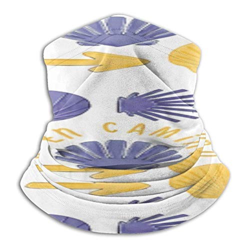 ZVEZVI Dog Paws Art - Calentador de cuello de microfibra para hombres y mujeres, cubierta elástica para la cara de media máscara de tubo bufanda de versatilidad, bandana para la cabeza