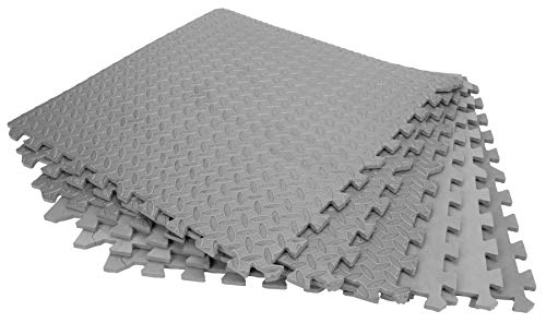 Performance Tool W88989 24' X 24' Protective Diamond Shape Anti-Fatigue Interlocking Floor Mat (24 Square Feet)