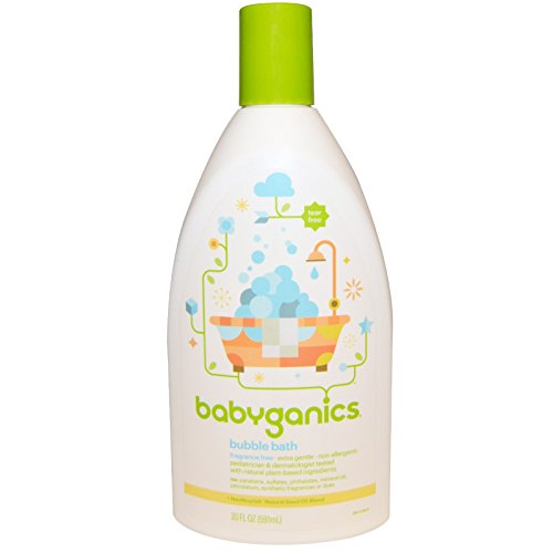 BabyGanics Extra Gentle Bubble Bath & Body Wash - Fragrance Free - 20 Ounce