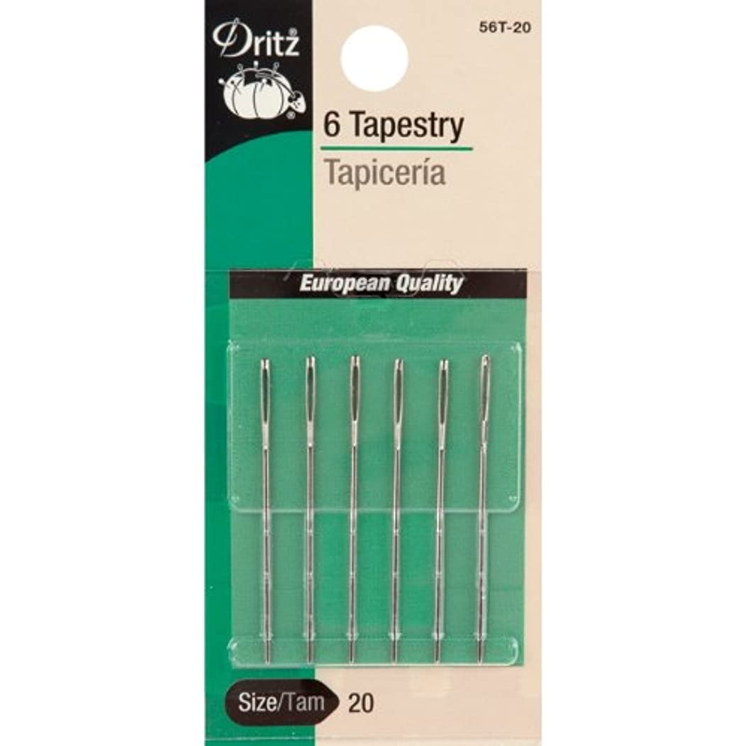 Dritz 56T-16 Tapestry Hand Needles, Size 16 (5-Count)