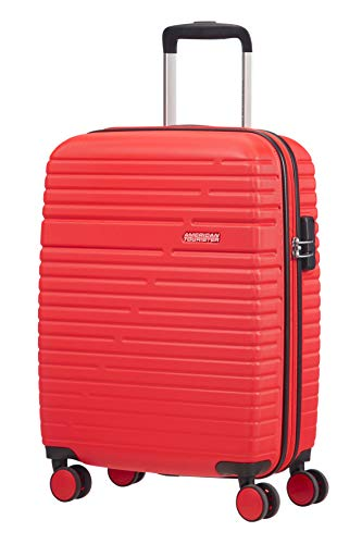 American Tourister Aero Racer Spinner 55-2.5 Kg Bagaglio a Mano 37 Liters, Rosso (Poppy Red)