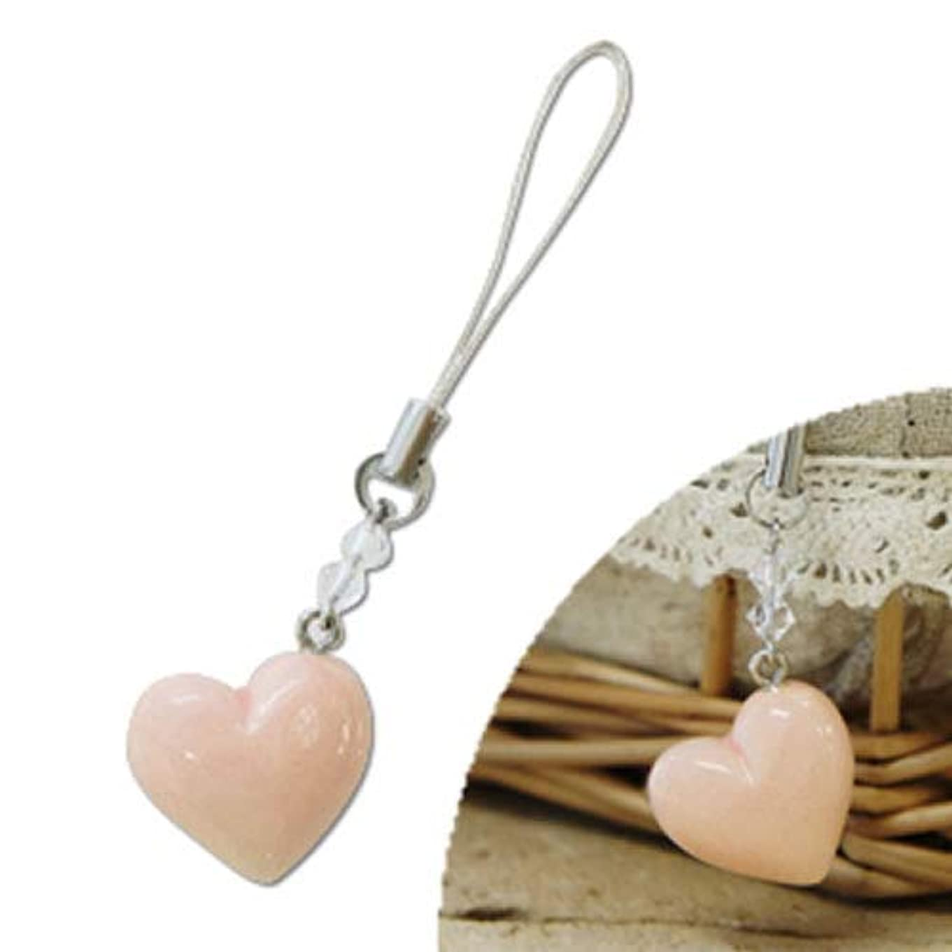 ステッチ見る人重要京焼アロマストラップ PINK HEART(ピンクハート)