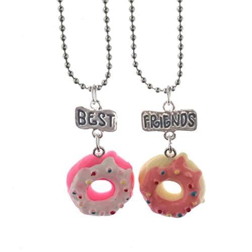 Elegant Rose Set di 2 unità Lega collane Migliori Amici per Sempre e mai Cake Donuts Creative Gift Amicizia per Girls Friends